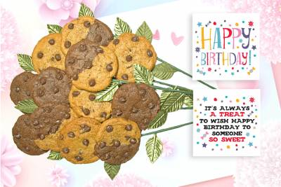 Sweet Happy Birthday Cookie Bouquet