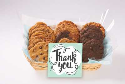 Swirly Thank You Gift Basket