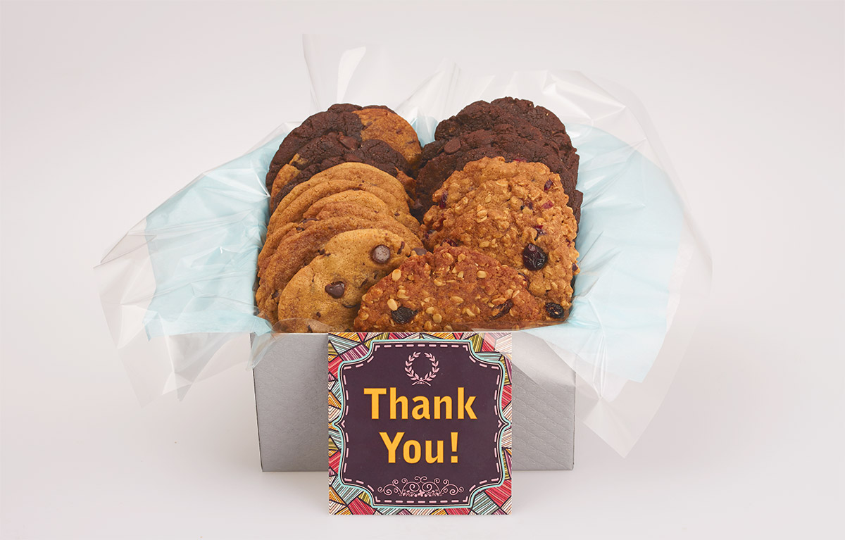 Thank you cookie gift baskets for online ordering and Canada wide delivery