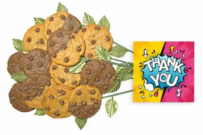 Thank You Cartoon Cookie Flower Bouquet