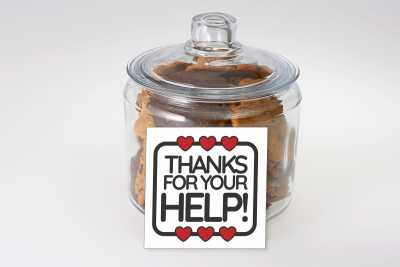 Thanks For Your Help Cookie Jar