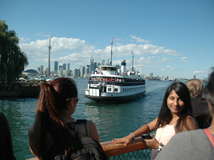 Toronto looking from Toronto Island with the ferry