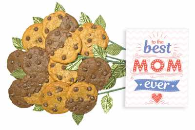 To the Best Mom Ever Cookie Gift Bouquet