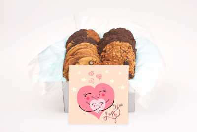 Two Hearts Love Cookie Gift Box