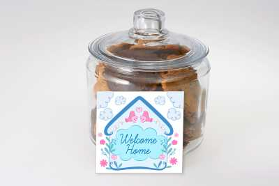 Welcome Home Cookie Jar