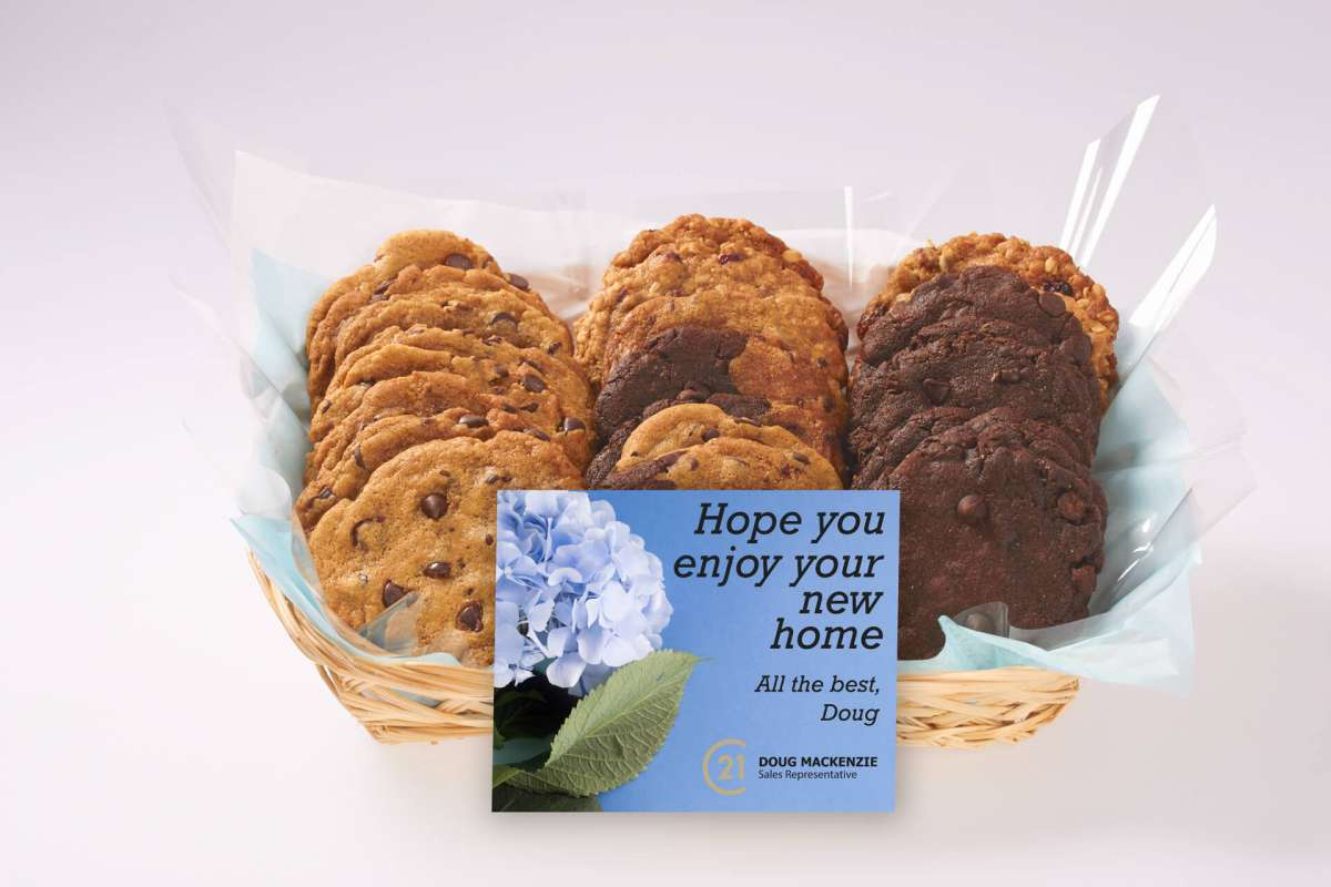 Welcome to your New Home Cookie Gift Basket