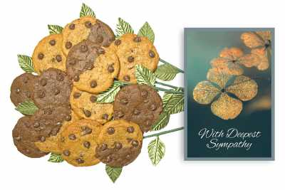 With Deepest Sympathy Cookie Bouquets