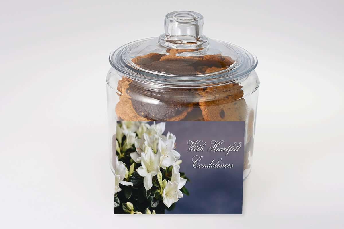 With Heartfelt Condolences Cookie Jar