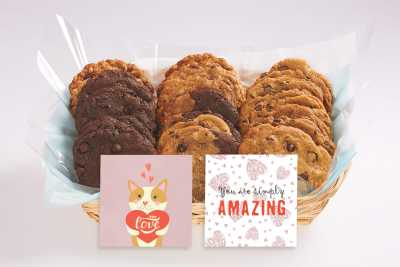 With Love Cookie Gift Basket