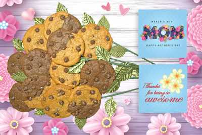 World's Best Mom Cookie Bouquet