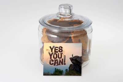 Yes You Can Cookie Jar