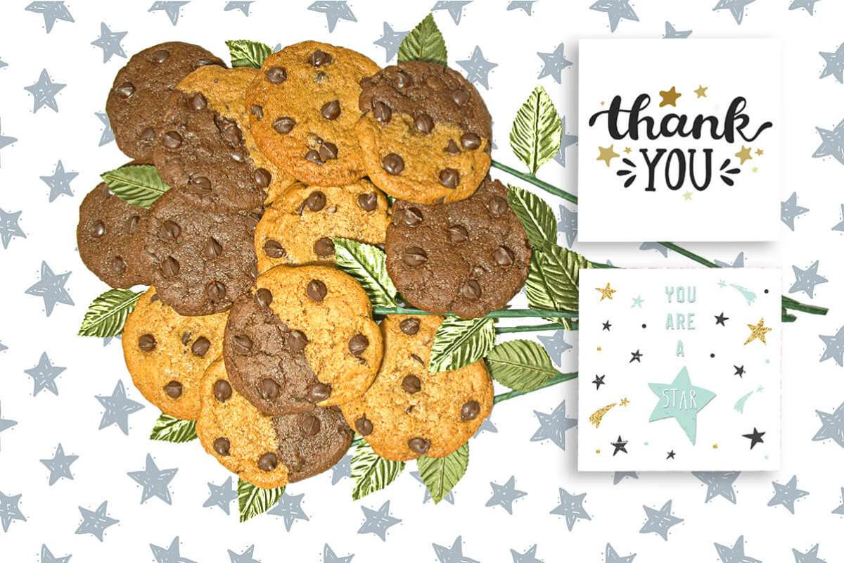 You are a Star Cookie Gift Bouquet